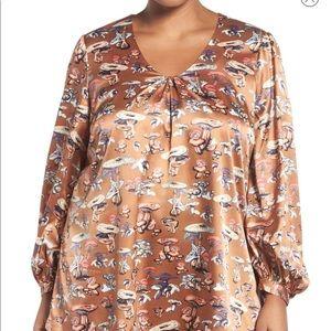 Melissa McCarthy Seven7 mushroom blouse, 2X